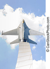warplane monument - Air Force warplane monument, Problic...
