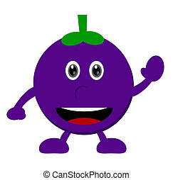 mangosteen - illustration vector graphic cartoon character...