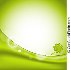 Abstract background with four-leaf clover for St. Patrick's Day