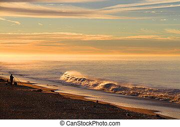 beautiful seascape on the sunrise