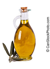 olive oil - bottle of extra virgin olive oil bottled