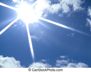sun and clouds - sunny blue sky with clouds. used a...