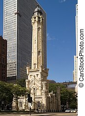 Chicago Water Tower - Water tower in downtown Chicago,...