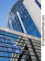 europeu, parlamento, -, Bruxelas, Bélgica