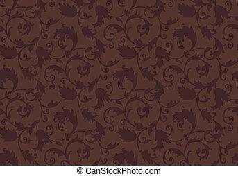 Seamless brown damask background