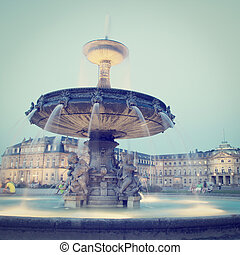 Stuttgart Germany - Schlossplatz City Square in Stuttgart,...
