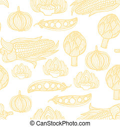 Perfect seamless vegetable pattern