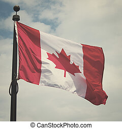 canadiense, bandera