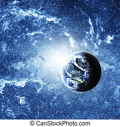 planet earth deep in space Elements of this image furnished...