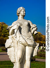 Greek Statue of a woman in Kuskovo park, Moscow