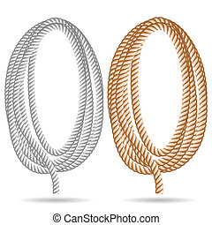 rope - Illustration of a rope on a white background. Vector....