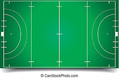 Hockey field - detailed illustration of a hockey field,...