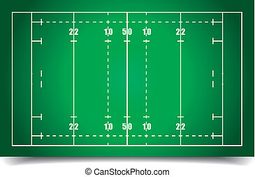 rugby field - detailed illustration of a rugby field, eps10...