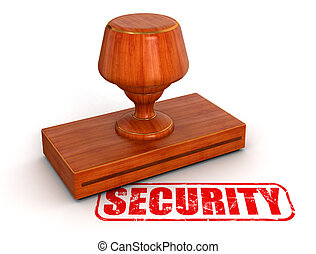 Rubber Stamp security Image with clipping path