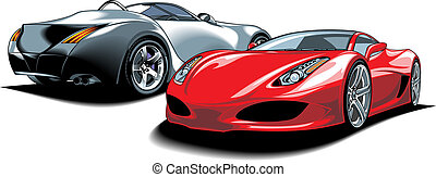 sport cars my original design isolated on the white...