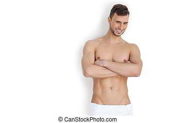 garder, sien, corps, bon, FORME, gai, jeune, musculaire,...