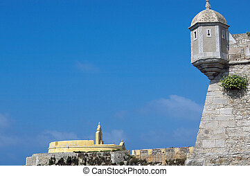 Peniche Citadel in Portugal - View upon Citadel of Peniche...