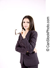 Business woman with glasses - A both tough and beautiful...