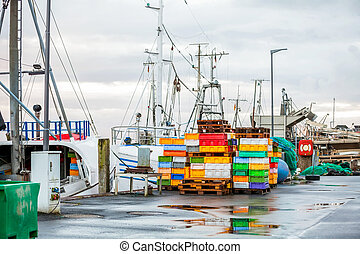 Fishing boat in harbour