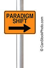 Paradigm Shift - Conceptual warning sign indicating Paradigm...