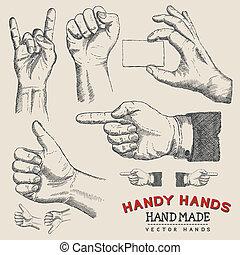 Handy Hands - Vector Hands Set