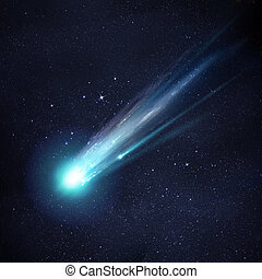 A Great Comet - A large and bright Comet breaking up as it...
