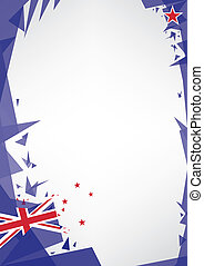 background origami of new zealand. a design background...