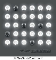 Vector Lightbulbs - Vector stage light bulbs.Vector...