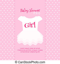 Baby Shower Invitation Template - Baby Girl Shower...