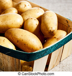 Potatoe in the basket, food backgrounds for your design
