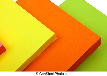 Sticky Notes Cube isolated on a white background