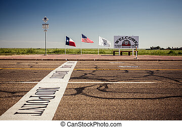 The midway point along Route 66 in Adrian, Texas