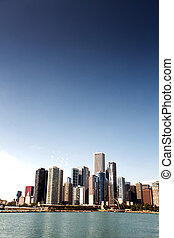 Downtown skyline Chicago - View of Downtown skyline,...