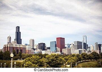 Downtown skyline Chicago