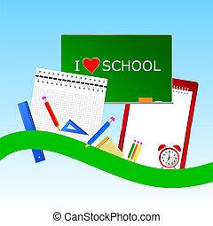 i love school icon color vector