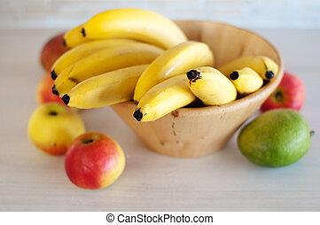 tazón, frutas
