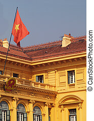Presidential Palace in Hanoi - Detail of the old...