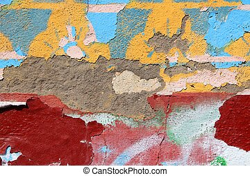 Colorful wall background