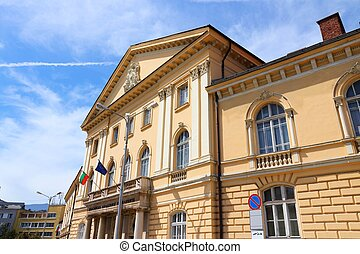Sofia, Bulgaria - famous Bulgarian Academy of Sciences in...