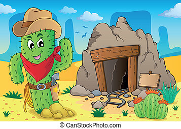 Desert with old mine theme 6