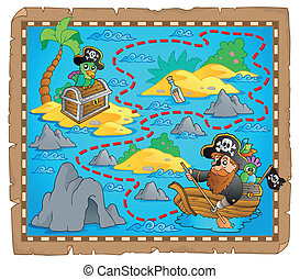 Treasure map theme image 7 - eps10 vector illustration