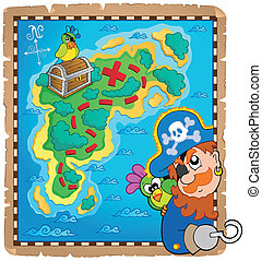 Treasure map topic image 4 - eps10 vector illustration