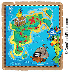 Treasure map topic image 9 - eps10 vector illustration