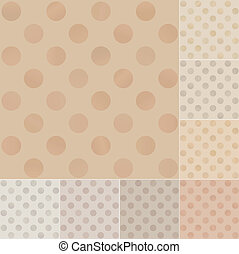 seamless polka dots pattern on recycled paper, cardboard...