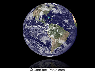 Earth Model: USA View - High resolution 3D render of Planet...