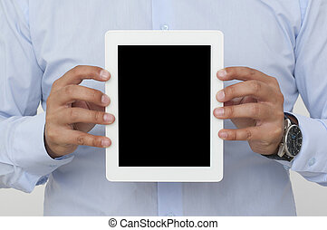 screen of a digital tablet - Vertikal showing screen of a...