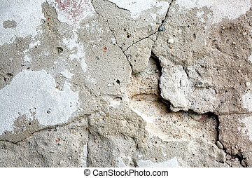 Old plaster wall - Old weathered plaster wall with cracks...