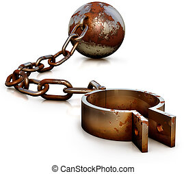 shackle - high resolution 3D rendering of a shackle