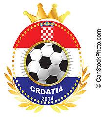 Soccer ball on Croatia flag