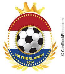 Soccer ball on Netherland flag